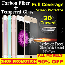 ★ 2016 LATEST 3D Tempered Glass Screen Protector ★ For iphone 6 / 6s / 6plus / 6s plus / 7 / 7plus ★ FREE 30 Days Warranty !!! ★