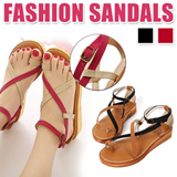 [TIME SALE] [LIMITED]Women's summer flats/ new hot edition/ heavy-bottomed flat/ summer sandals/ female muffin shoes/ Roman sandals/ student shoes/ high quality【M18】