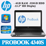(Refurbished) HP PROBOOK 4340S Notebook - Intel Core i5-3210M 2.50Ghz/ 4GB RAM 320GB HDD/ 13.3 inch HD Display/ Windows 7/ 1 Month In-house Warranty