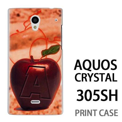 AQUOS CRYSTAL 305SH 用『No1 A 赤りんご』特殊印刷ケース【 aquos crystal 305sh アクオス クリスタル アクオスクリスタル softbank ケース プリント カバー スマホケース スマホカバー 】の画像