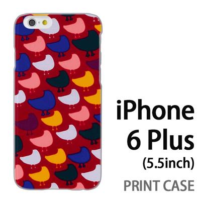 iPhone6 Plus (5.5インチ) 用『0317 モザイク鳥ドット 赤』特殊印刷ケース【 iphone6 plus iphone アイフォン アイフォン6 プラス au docomo softbank Apple ケース プリント カバー スマホケース スマホカバー 】の画像