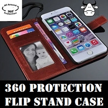 [360 Protection Leather case] iPhone 7|5|5S|SE|6 Samsung S7 Edge| Huawei Mate 9| Xiaomi flip case