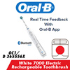 [Oral-B] White 7000 Electric Rechargeable Bluetooth Toothbrush [OC1/D 365556X] [1 year Warranty]