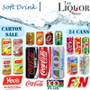 [CNY2017] SOFTDRINKS CARTON SALES CHEAPEST [TheLiquorShop] [24 cans] [Coca Cola][100 Plus][YEOS][FNN]{M150][Red Bull][Milo][Coconut][Green Tea][Lemon Tea][THE LIQUOR SHOP]