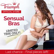 Triumph Sensual Push Up Bras / Feminine / Sloogi Bras / Sports Bra / Wired / Push Up / Padded