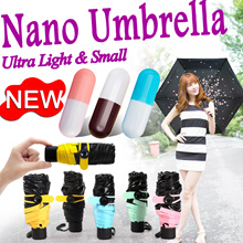 [READY STOCKS IN SG !!!]★Nano Umbrella★5 Fold Umbrella★ULTRA SMALLEST★99% UV Light Protection★