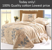 100% cotton Bed sheet Quilt Pillows set. Cheapest! Single Twin/Double Queen King