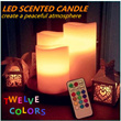 LED Scented Candle Light 3pcs Set !! telecontroller included!12 colors!!to create a peaceful atmosphere~make your bedroom romantic~/unexpected delight