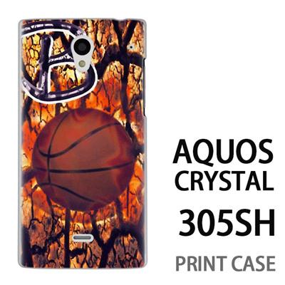 AQUOS CRYSTAL 305SH 用『No1 B バスケットボール』特殊印刷ケース【 aquos crystal 305sh アクオス クリスタル アクオスクリスタル softbank ケース プリント カバー スマホケース スマホカバー 】の画像