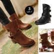 [10月中旬発送]ブーツ ショートブーツ レディース エンジニアブーツ 大きいサイズ プラスサイズ シンプル 靴 シューズ  新作