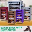 Rak Sepatu Dengan Penutup Anti Debu 4 Tingkat Dan 6 Tingkat (Shoes Rack With dust Cover)