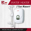 [Year End Promotion] REGIS: JOVEN EC757 water heater (5 years warranty)