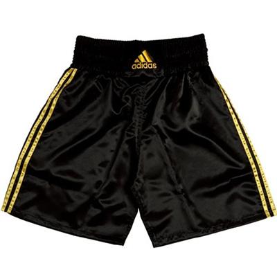 アディダス(adidas) MULTI BOXING 140 GRMS M ADISMB01-BG-M ブラック/イエロー M 【ボクシング ウェア パンツ 格闘技】の画像