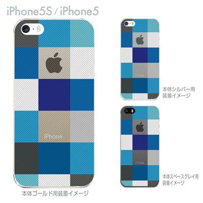 【iPhone5S】【iPhone5】【Clear Arts】【iPhone5ケース】【カバー】【スマホケース】【クリアケース】【チェック】 06-ip5-ca0032blの画像