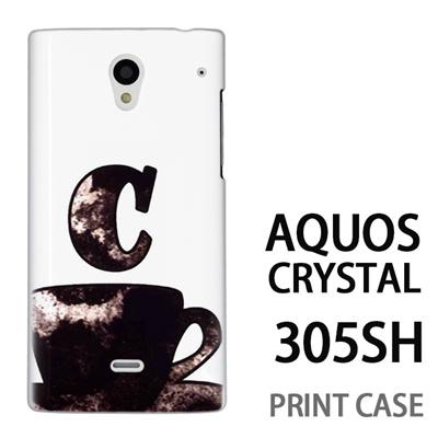 AQUOS CRYSTAL 305SH 用『No1 C コーヒーカップ』特殊印刷ケース【 aquos crystal 305sh アクオス クリスタル アクオスクリスタル softbank ケース プリント カバー スマホケース スマホカバー 】の画像