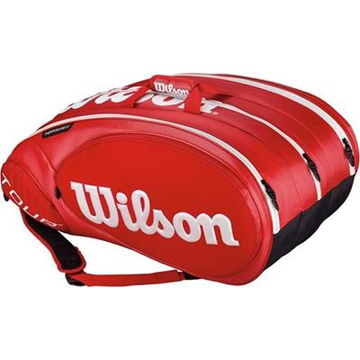 ウイルソン(Wilson) ツアー・モールディッド2.0 15パック レッド WRZ847515 【テニス用品 バッグ ラケットバッグ シューズポケット 遠征バッグ ウィルソン】の画像