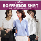 Korean Boyfriends Shirt Loose Fit Fashion Blouse Dress Long T-Shirt Buy 2 Free Shipping
