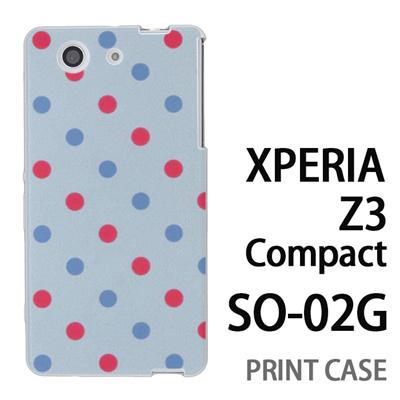 XPERIA Z3 Compact SO-02G 用『0823 斜めドット 水』特殊印刷ケース【 xperia z3 compact so-02g so02g SO02G xperiaz3 エクスペリア エクスペリアz3 コンパクト docomo ケース プリント カバー スマホケース スマホカバー】の画像