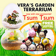 [ Pokemon GO Terrarium ] by DISNEY / Piglet / Mickey Mouse / Donald Duck / Winnie Etc / Terrarium Decoration / Potted Plant Accessories / Planter Decor / DIY Gift / Home Decor / Gardening