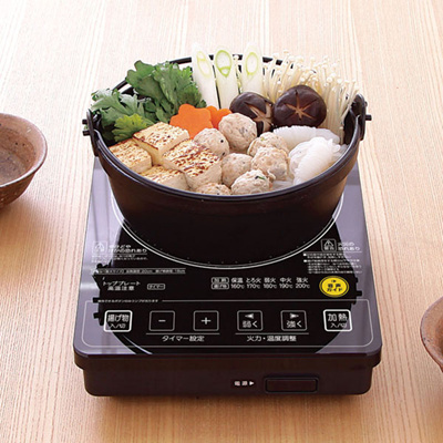 【送料無料】ガラストップIHクッキングヒーター 音声タイプ EIH10V-B〔IH調理器・IH調理機・IH卓上コンロ〕 アイリスオーヤマ アイリスオーヤマの画像