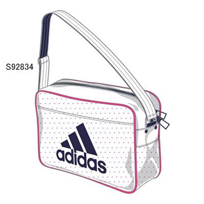 アディダス (adidas) エナメルショルダー XS(ホワイト×ソーラーピンク×ナイトスカイ) Z7675-S92834 [分類:エナメルバッグ (小型)]の画像