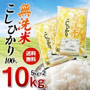【送料無料】無洗米コシヒカリ【5kg×2】こしひかり100% 10kg 【一部地域は追加送料】