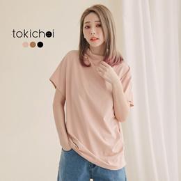 TOKICHOI - Mockneck Basic Tee-180169