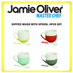 JAMIE OLIVER 553293 DIPPED MUGS w/SPOON 4pcs/set