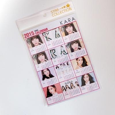 KARA 2015 カレンダー ミニ シール / ハラ ギュリ スンヨン ヨンジ 2015 calendar カラ kpop a5サイズ mammamia マンマミーアの画像