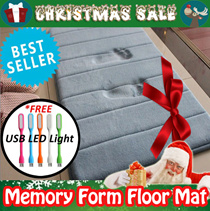 Anti-Slip Memory Foam Mat (40cm x 60cm) ★Memory Foam Bathroom Rug ★High Water Absorbent ★Microfiber ★High Density ★Silky★Many Colours