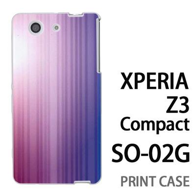 XPERIA Z3 Compact SO-02G 用『0824 グラデーション 紫青』特殊印刷ケース【 xperia z3 compact so-02g so02g SO02G xperiaz3 エクスペリア エクスペリアz3 コンパクト docomo ケース プリント カバー スマホケース スマホカバー】の画像