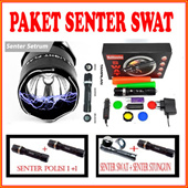 Paket Senter SWAT police [ Paket 1 pc/ paket 1+1/ paket senter + Stungun]