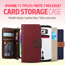Card Storage Case/Casing★iPhone 7 / 7 Plus /  LG V20 Release★Galaxy S7/Edge/S6/S5/Note 7/Note 5/Note 4/Note 3/A3/A5/A7/2016/iPhone 5S/SE/6/6S/Plus/LG G5/V20 Casing