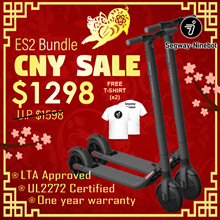 Segway ES2 Escooter(1PAIR) with FREE Segway T-Shirts(1PAIR)★LTA Approved ES2