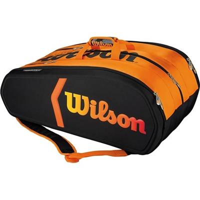 ウイルソン(Wilson) バーン・モールディッド 15パック ブラック/オレンジ WRZ841515 【テニス用品 バッグ ラケットバッグ シューズポケット 遠征バッグ ウィルソン】の画像