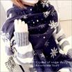 【E4-1】宅配便送料無料》リバーシブル ストール 大判ストール 厚手 ブランケット マフラー レディース 雪柄 スノー 雪の結晶/クリスマスプレゼント xmas■Y-SNOW-STOLE■
