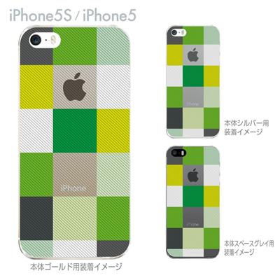 【iPhone5S】【iPhone5】【Clear Arts】【iPhone5ケース】【カバー】【スマホケース】【クリアケース】【チェック】 06-ip5-ca0032grの画像