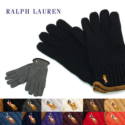ポロ ラルフローレン POLO RALPH LAUREN 手袋 ニット手袋 グローブ メンズ ブランド ファッション グローブ 通販の画像