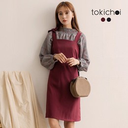 TOKICHOI - Ribbon Detailed Pinafore Dress-172725-Winter