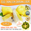(VP Ducafe) Egg Skin D24 Durian Crepe - 32g each