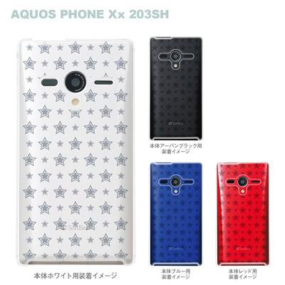 【AQUOS PHONEケース】【203SH】【Soft Bank】【カバー】【スマホケース】【クリアケース】【スター】 06-203sh-ca0021dの画像
