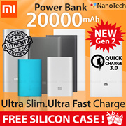 100% Authentic ★ Xiaomi Mi Power Bank 20000mAh 16000mAh 10000mAh PowerBank Portable Battery