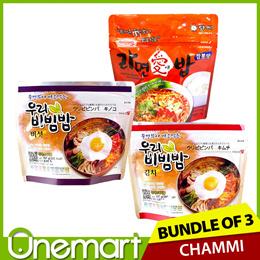 [CHAMMI] 3x Bundle ★ Korean Instant Bibimbap / Ramen+Rice! ★ One of Each Flavours!