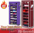 Shoe Rack / WaterProof Protect/beautiful and generous/the best choice for life(S$16.9 for 7 tier )