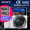Sony Alpha a5000 Mirrorless Camera with 16-50mm Lens Power Zoom Lens