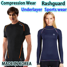 RASH GUARD , Compression wear ,under layer,  SURFFING, Fitness,★KOREA High quality★
