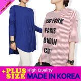 ★[PLUS SIZE] Made in KOREA★2015 S/S Hot ITEM/Women t-shirts/box T-shirts/stylish/loose fit/top/S~XXXXL