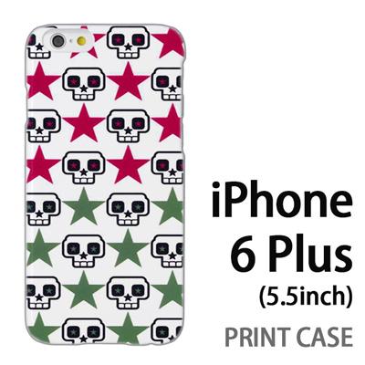 iPhone6 Plus (5.5インチ) 用『0615 ドクロドット』特殊印刷ケース【 iphone6 plus iphone アイフォン アイフォン6 プラス au docomo softbank Apple ケース プリント カバー スマホケース スマホカバー 】の画像