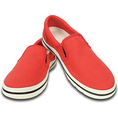 クロックス(crocs) ノーリンスリップオン CR201084 646 レッド/ホワイト 【正規品 スリッポン 靴】の画像