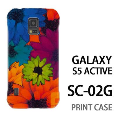 GALAXY S5 Active SC-02G 用『No1 F フラワー』特殊印刷ケース【 galaxy s5 active SC-02G sc02g SC02G galaxys5 ギャラクシー ギャラクシーs5 アクティブ docomo ケース プリント カバー スマホケース スマホカバー】の画像